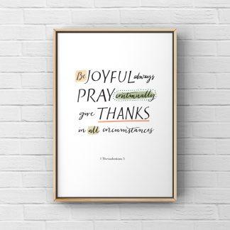 Be joyful always A4 print